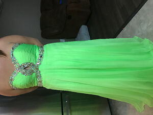 Size 12 lime green prom dress worn for 4 hours. $80.