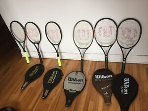 QUALITY WILSON TENNIS RACQUETS AND TENNIS BAGS