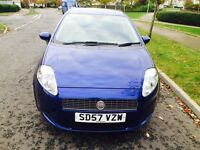 57 Plate Fiat Punto Active 1.2.full Service ..5 Doors...Years MOT...80k Miles. 2 Owner £1395