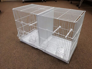 """24""""X11"""" Double Breeding Cage with Divider for Canary Finch"""