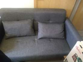 Sofa 2 seater charcoal amazing condition