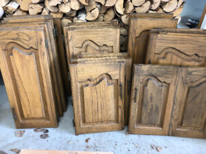 Solid Oak cabinet doors and drawers