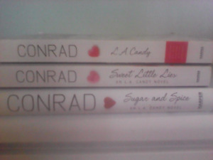 3 hard cover novels $10