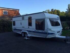 4 berth fixed bed caravan
