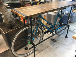 Bicycle table stands. $500-$750 depending on size and finishes.