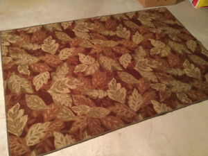 Vintage look area rug, runner and padding