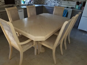 Kitchen Table, Chairs and Cabinet