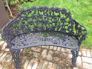 FS: wrought iron chair (2) bench and table  London Ontario image 1