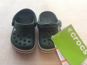 Crocs - Forest Green, brand new with tags Size 4
