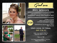 Graduation Mini Sessions with makeup/hair touch ups // $120