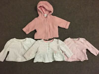 Baby girl knittted jacket and 3 cardigans from next &a boots