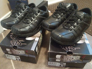 Brand New Sketchers youth black shoes size 5 and size 6