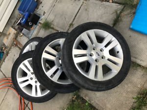 Selling 4 factory Ford rims and tires 17 inch