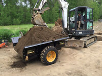 Compact Excavator Extreme Duty Dump Trailer