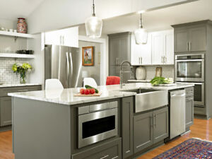 White and Grey Shaker Cabinets