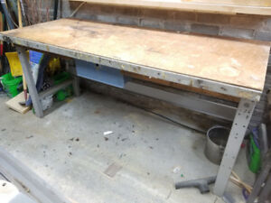 Steel workbench, assembly table