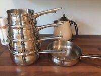 Pan set with frying pan