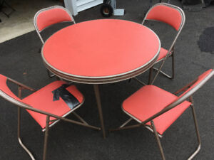 Card Table and 4 Chairs