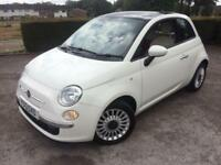 Fiat 500 1.2 ( 69bhp ) ( s/s ) LOUNGE (WHITE/RED LEATHER) FINANCE AVAILABLE