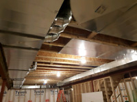 Ductwork installation, furnace relocation, gas services