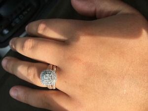 14K ROSE GOLD 1.5 CARAT DIAMOND WEDDING SET