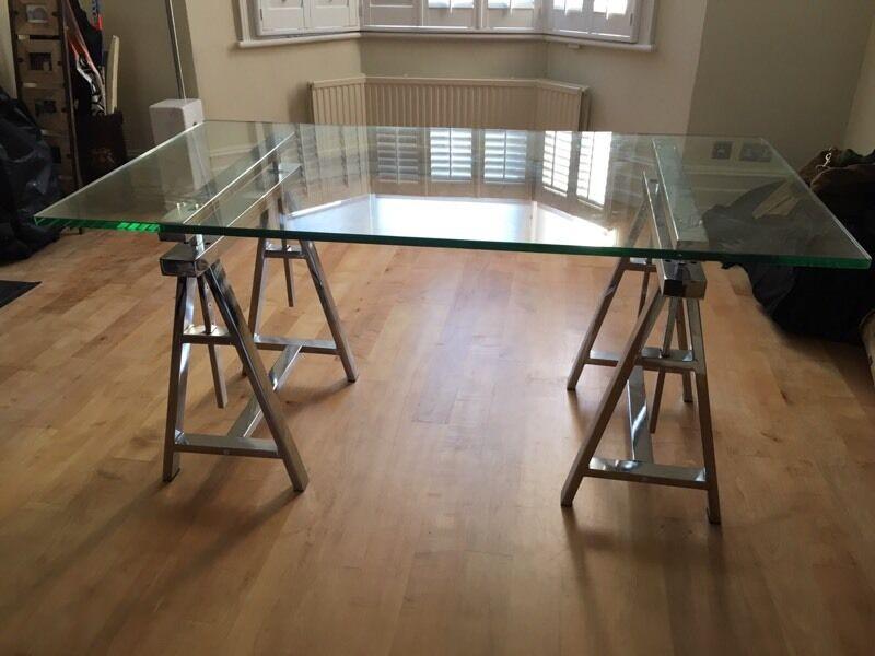 Gl Desk With Architect Chrome Legs