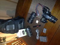 Canon EOS 30D SLR digital camera and supplies