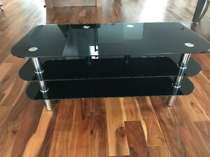 Tempered Glass TV entertainment console