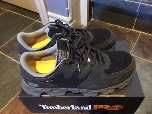Men's Timberland steel-toed work shoes