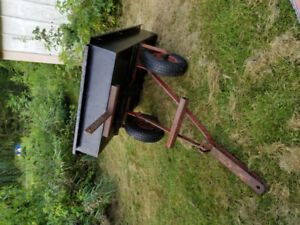 Lawn Trailer with Heavy steel frame