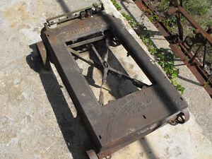 vintage cast iron platform scale