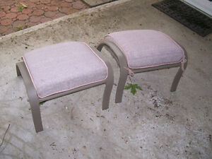 Two nice footstools for outdoor/patio use