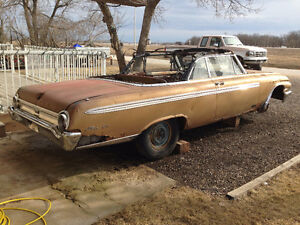 PARTING OUT RARE 1962 FORD GALAXIE SUNLINER CONVERTIBLE STANDARD