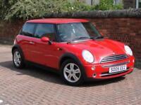 FINANCE AVAILABLE!! 2005 MINI HATCH 1.6 ONE 3dr, 1 YEAR MOT, RED HALF LEATHER,
