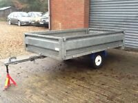 GALVANISED MANUAL TIPPING TRAILER
