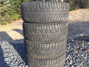 Four 215/55R16 Winter Tires
