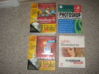 4 Design books (Photoshop, Illustrator, Fireworks)