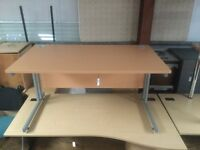 Beech straight 1400 office table