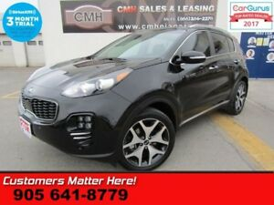 2017 Kia Sportage SX  AWD LD AUTO-BRAKING COOLED-SEATS NAV LEATH