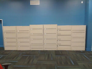 Like New 5 High Lateral Teknion File Cabinets