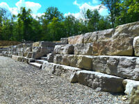 Custom Stone Retaining Walls