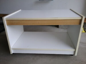 White Wooden TV Stand