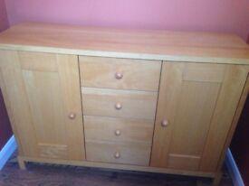 Next warm oak sideboard