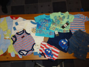 Twin Boy 3-6 months matching sets package