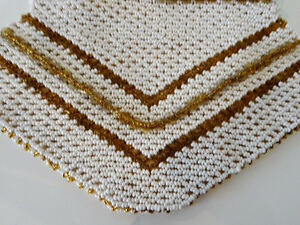 ART DECO beaded HANDBAG Czechoslovakia CHEVRON PATTERN 1920s-40s Kitchener / Waterloo Kitchener Area image 4