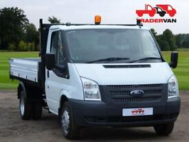 2016 FORD TRANSIT 2.2 TDCi T350 125ps Medium Wheel Base Single Cab Tipper DIESE