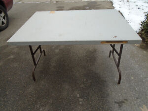 """BARGAIN table tops work or hobby heavy duty, 2"""" thick wood"""