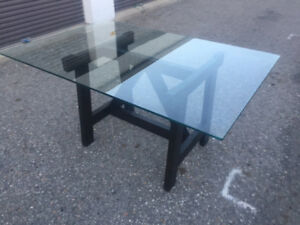 MODERN GLASS TOP DINNG TABLE ONLY $299!!!!