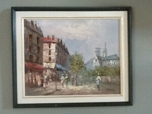 Caroline Burnett Framed Oil Painting