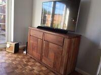 Dakota style solid wood tv side unit